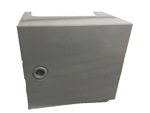 Hinged Lid w/Lock  Metal- Grey