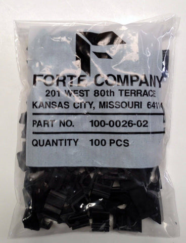 Black Horizontal Siding Cable Clip for RG59/RG6 Bag of 100 (100-0026-02) - Confluent Technology Group
