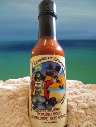 Genuinely Bahamian CAT ISLAND Boiling Hole Scorchin Hot Sauce