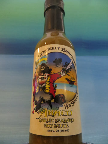 Genuinely Bahamian ABACO Garlic Serrano Hot Sauce