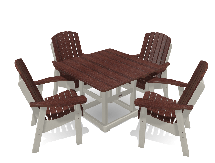 Deluxe Dining Patio Set with 4 Chairs - MY OUTDOOR ROOM