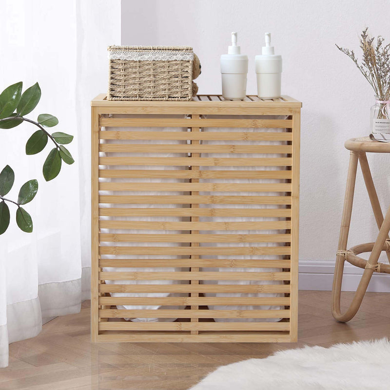 Bamboo Laundry Hamper Basket