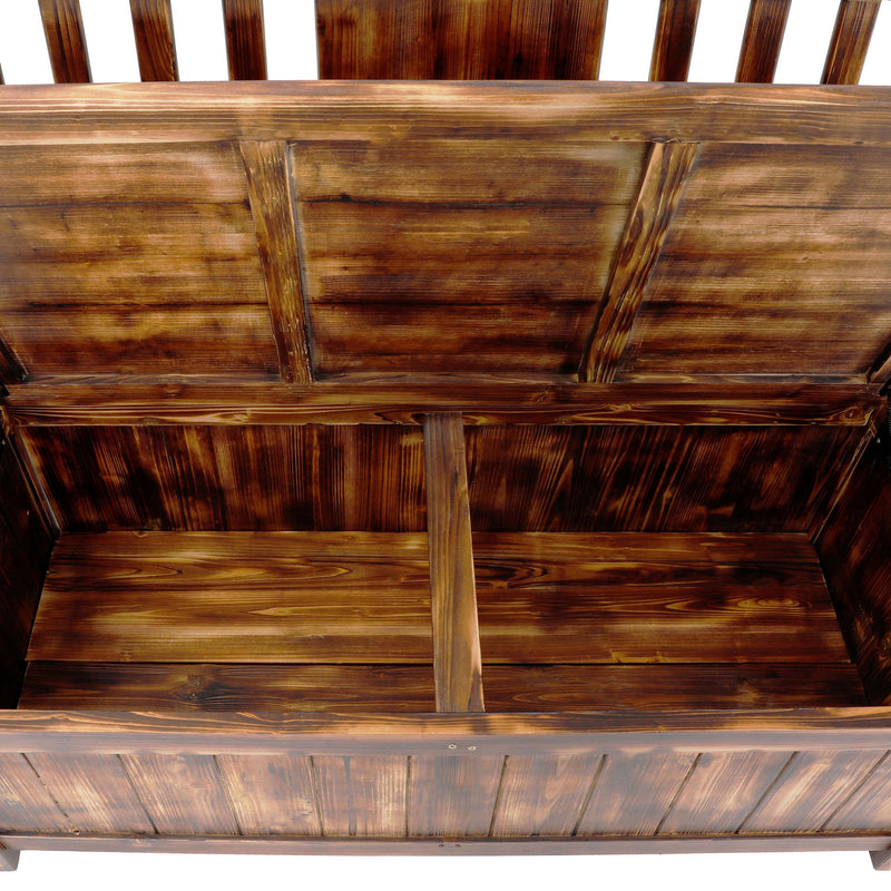 Wooden Outdoor Storage Bench