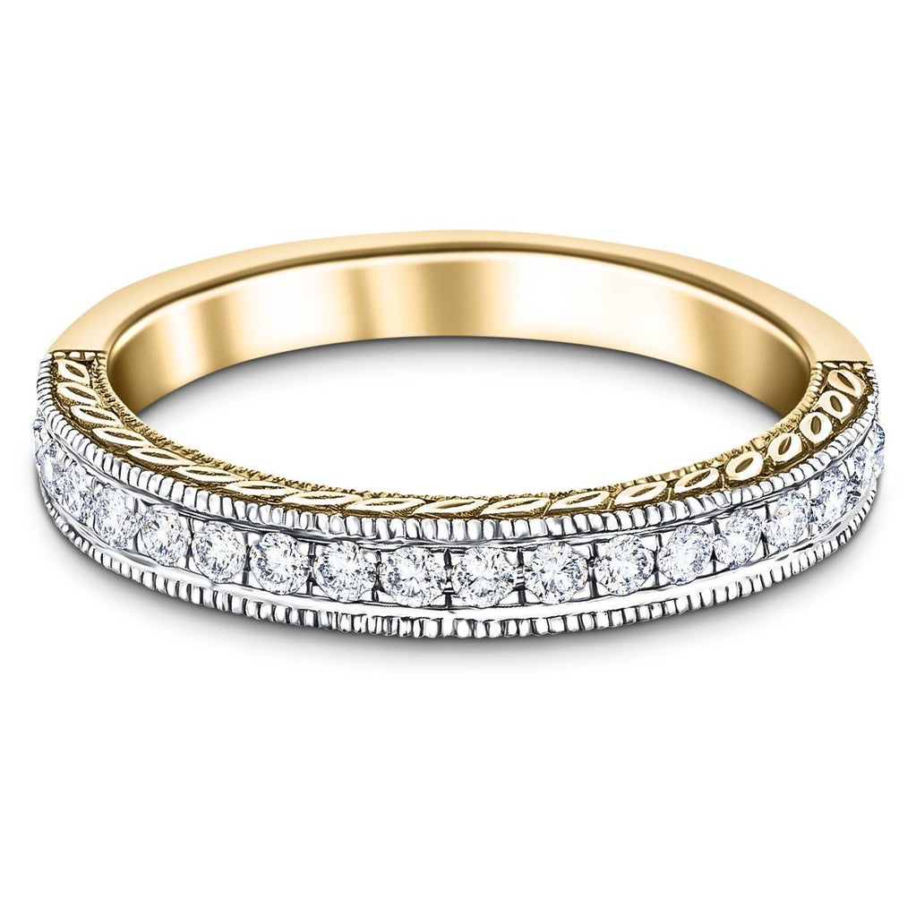 13 Stone Diamond Half Eternity Ring 0.50ct G/SI Diamonds 18k Yellow Gold - All Diamond