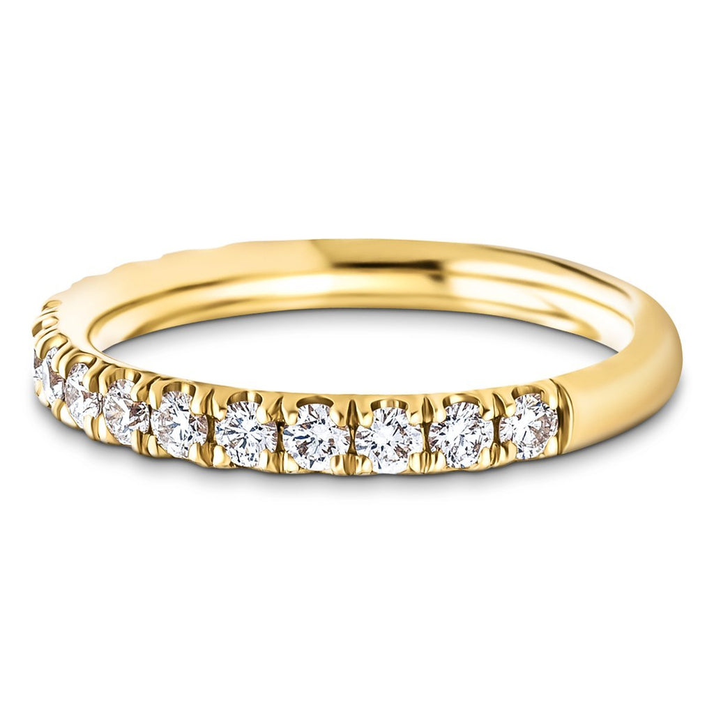 18 Stone Half Eternity Ring 0.50ct G/SI Diamonds in 18k Yellow Gold - All Diamond