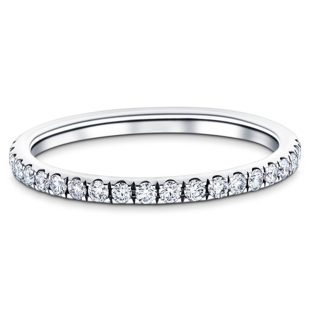 19 Stone Half Eternity Ring 0.25ct G/SI Diamonds in 18k White Gold - All Diamond