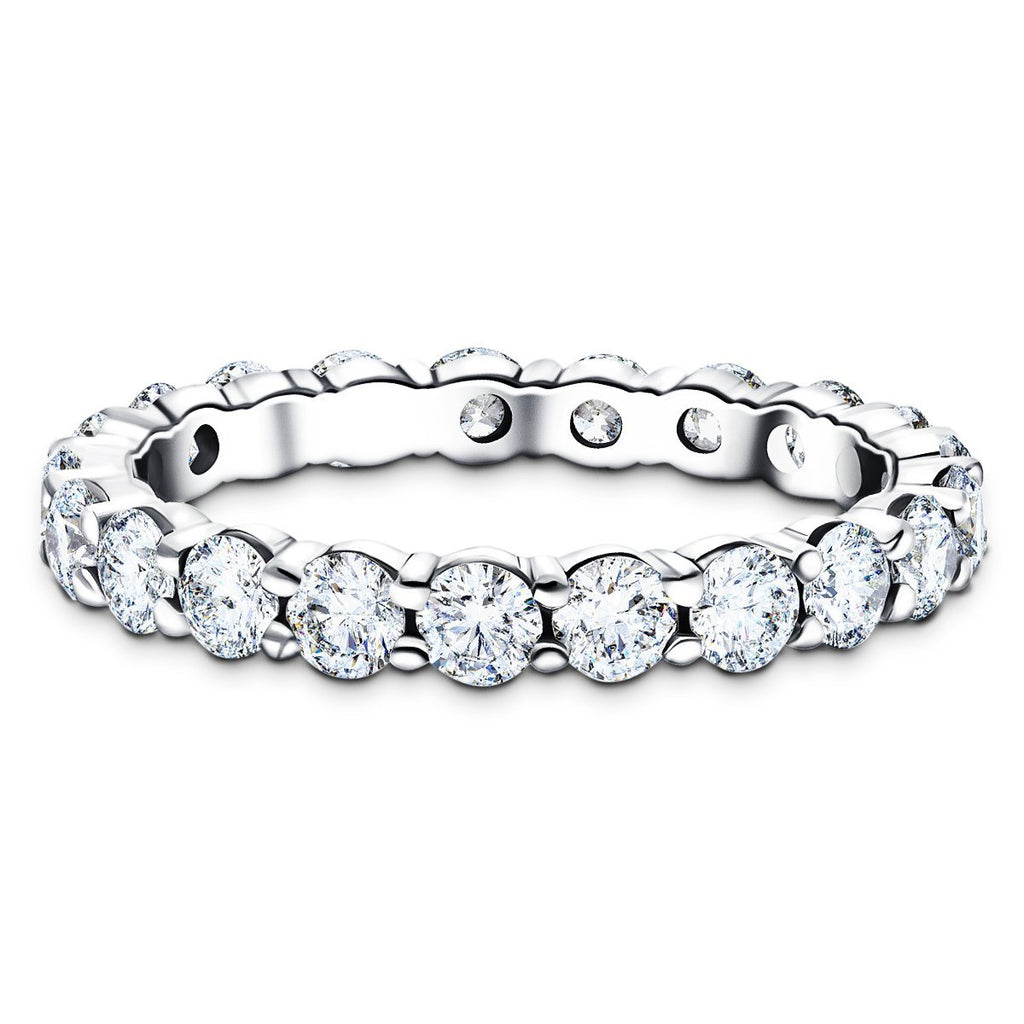 25 Stone Full Eternity Ring 1.50ct G/SI Diamonds in Platinum - All Diamond
