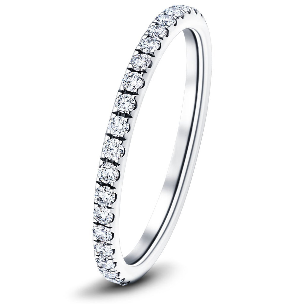 40 Stone Full Eternity Ring 0.40ct G/SI Diamonds In 18k White Gold - All Diamond