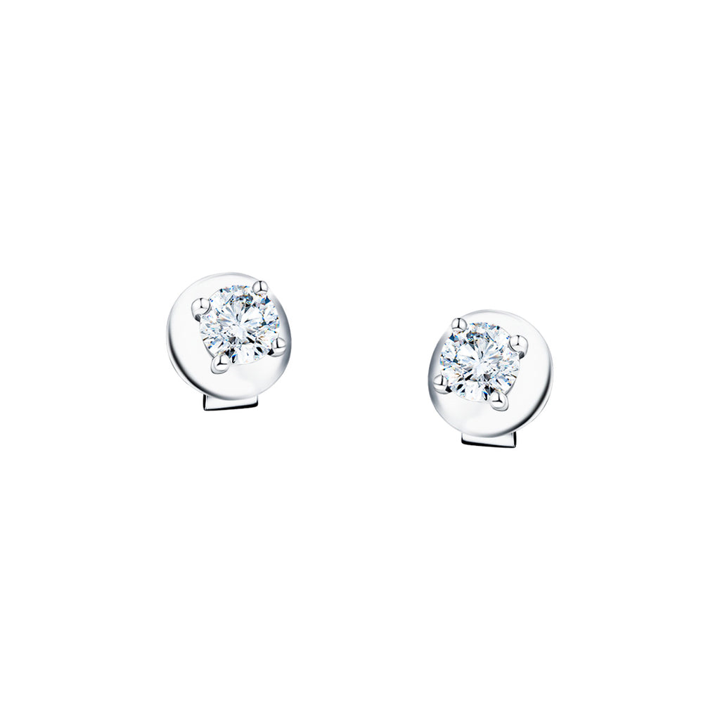 Diamond Stud Earrings 0.30ct G/SI Quality in 18k White Gold