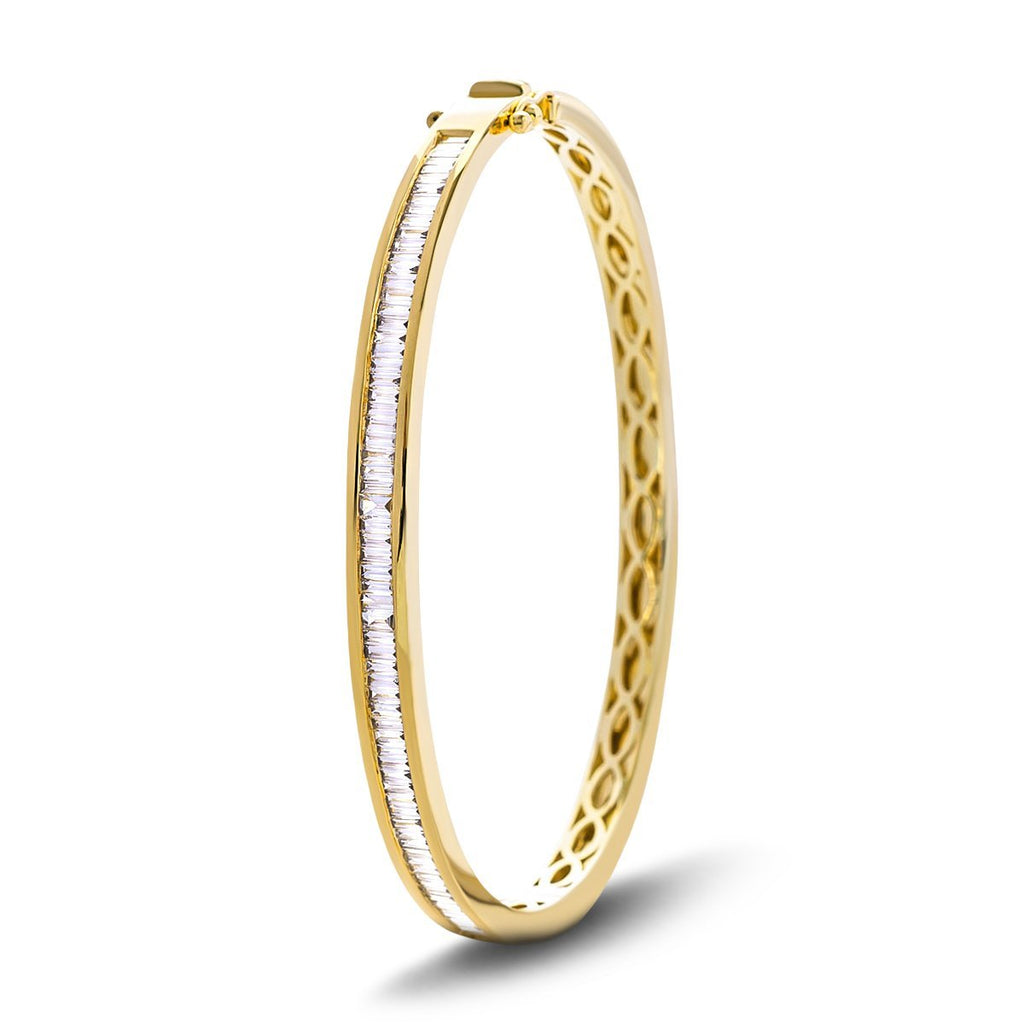 Baguette Diamond Bangle 1.50ct G/SI Diamond in 18k Yellow Gold - All Diamond