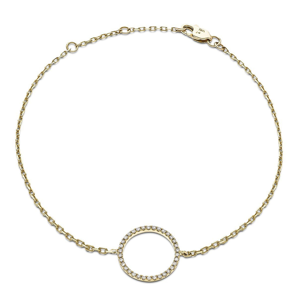 Circle of Life Diamond Bracelet 0.15ct G-SI in 18k Yellow Gold - All Diamond