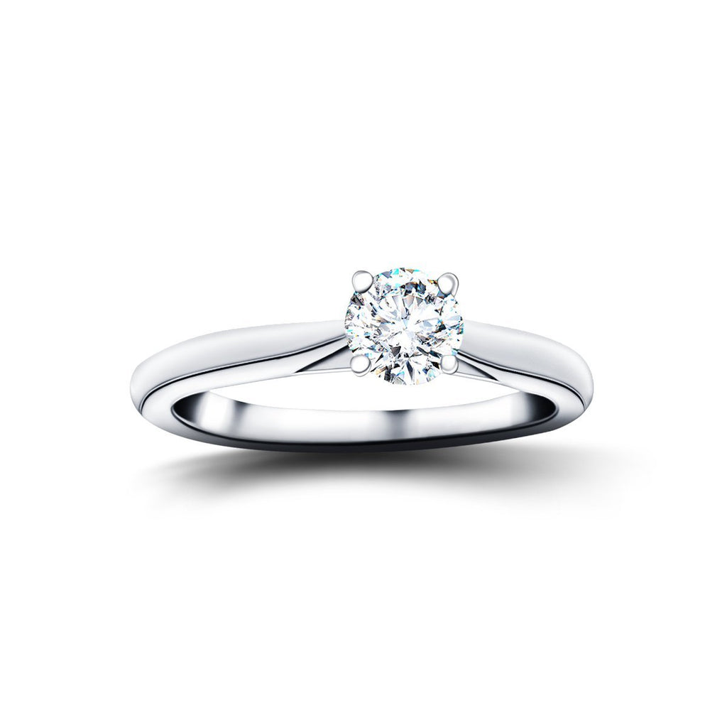 Diamond Solitaire Engagement Ring 0.25ct G/SI Quality in Platinum - All Diamond