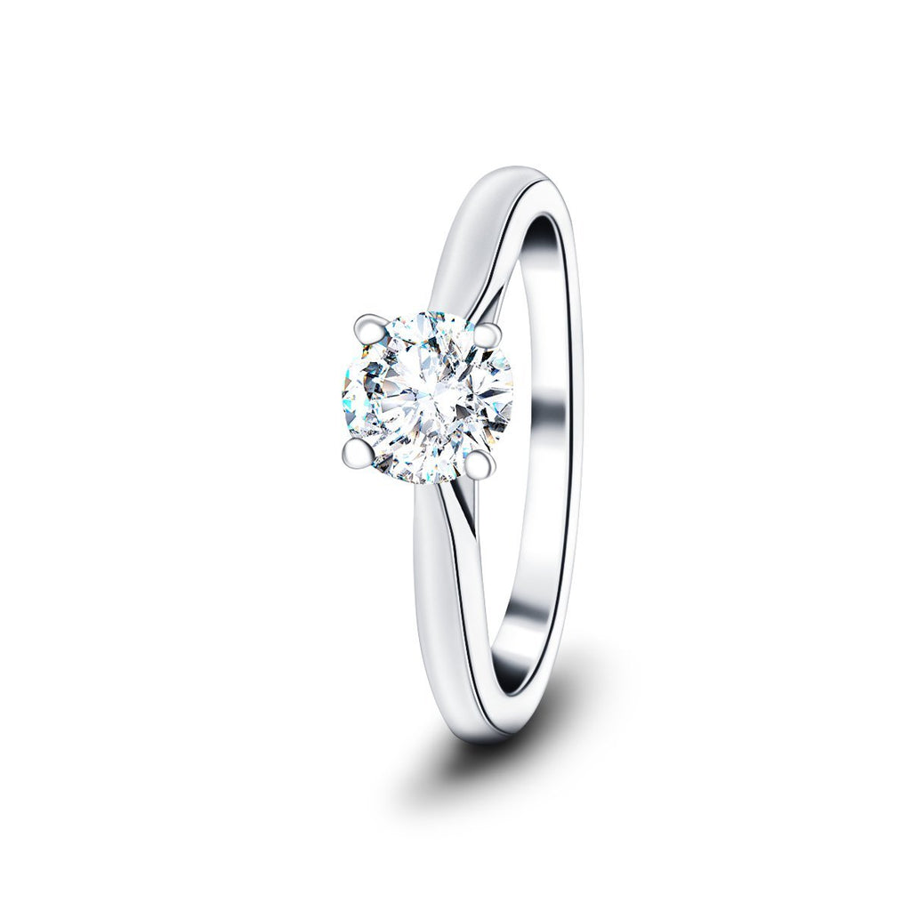 Diamond Solitaire Engagement Ring 0.50ct G/SI Quality in Platinum - All Diamond