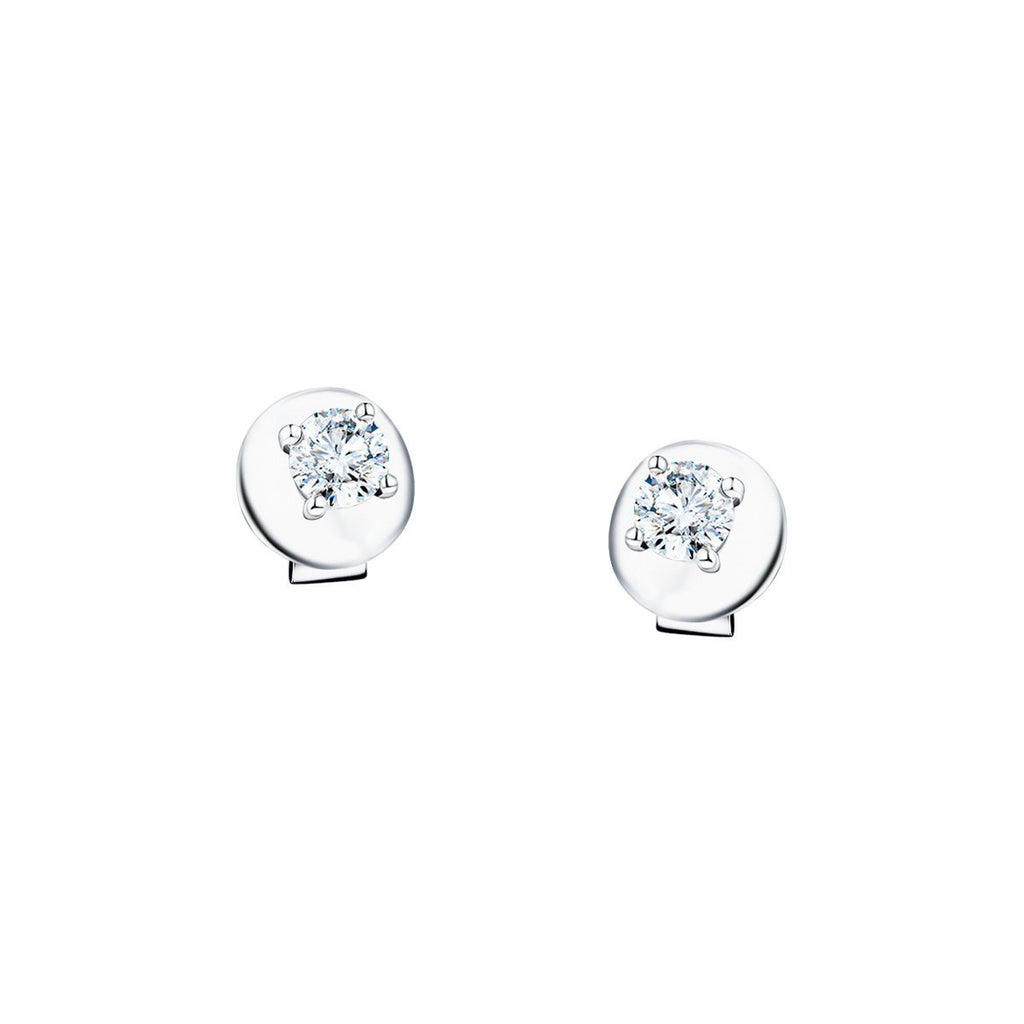 Diamond Stud Earrings 0.10ct G/SI Quality in 18k White Gold - All Diamond