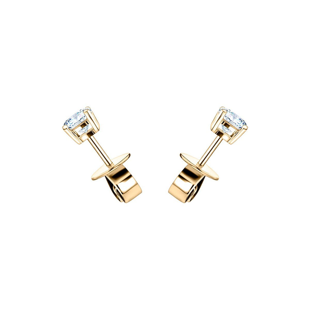 Diamond Stud Earrings 0.20ct G/SI Quality in 18k Yellow Gold - All Diamond