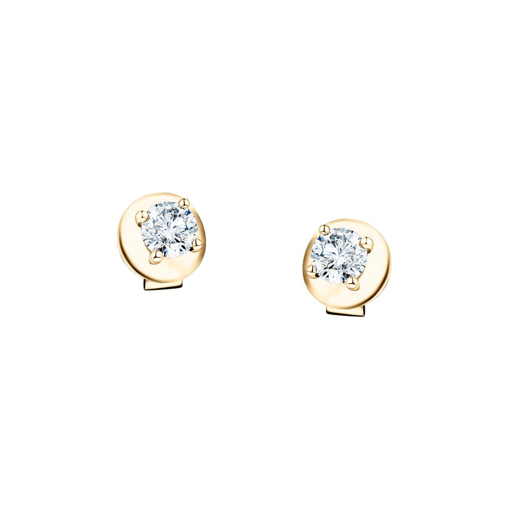 Diamond Stud Earrings 0.40ct Premium Quality in 18K Yellow Gold - All Diamond
