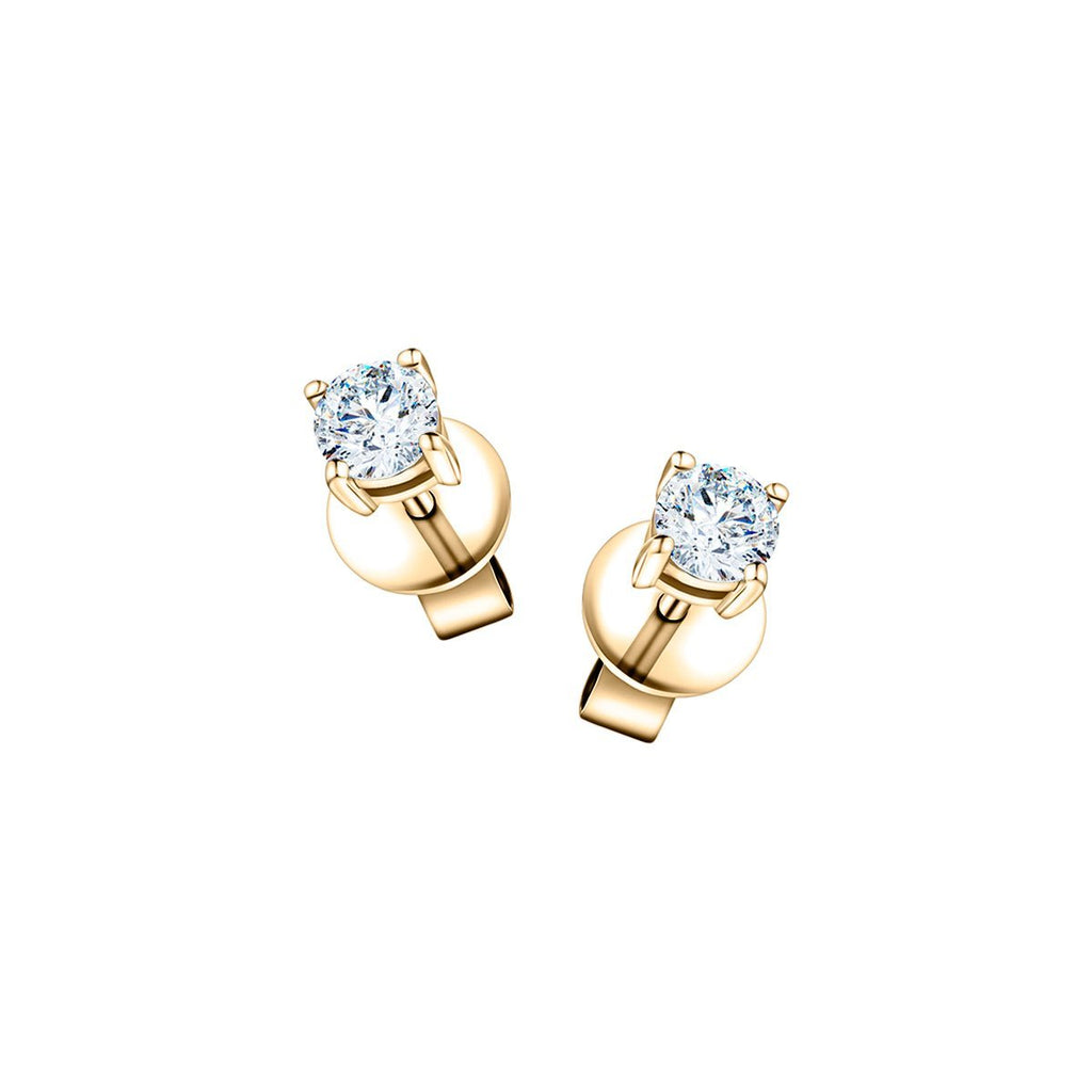 Diamond Stud Earrings 0.60ct Premium Quality in 18K Yellow Gold - All Diamond