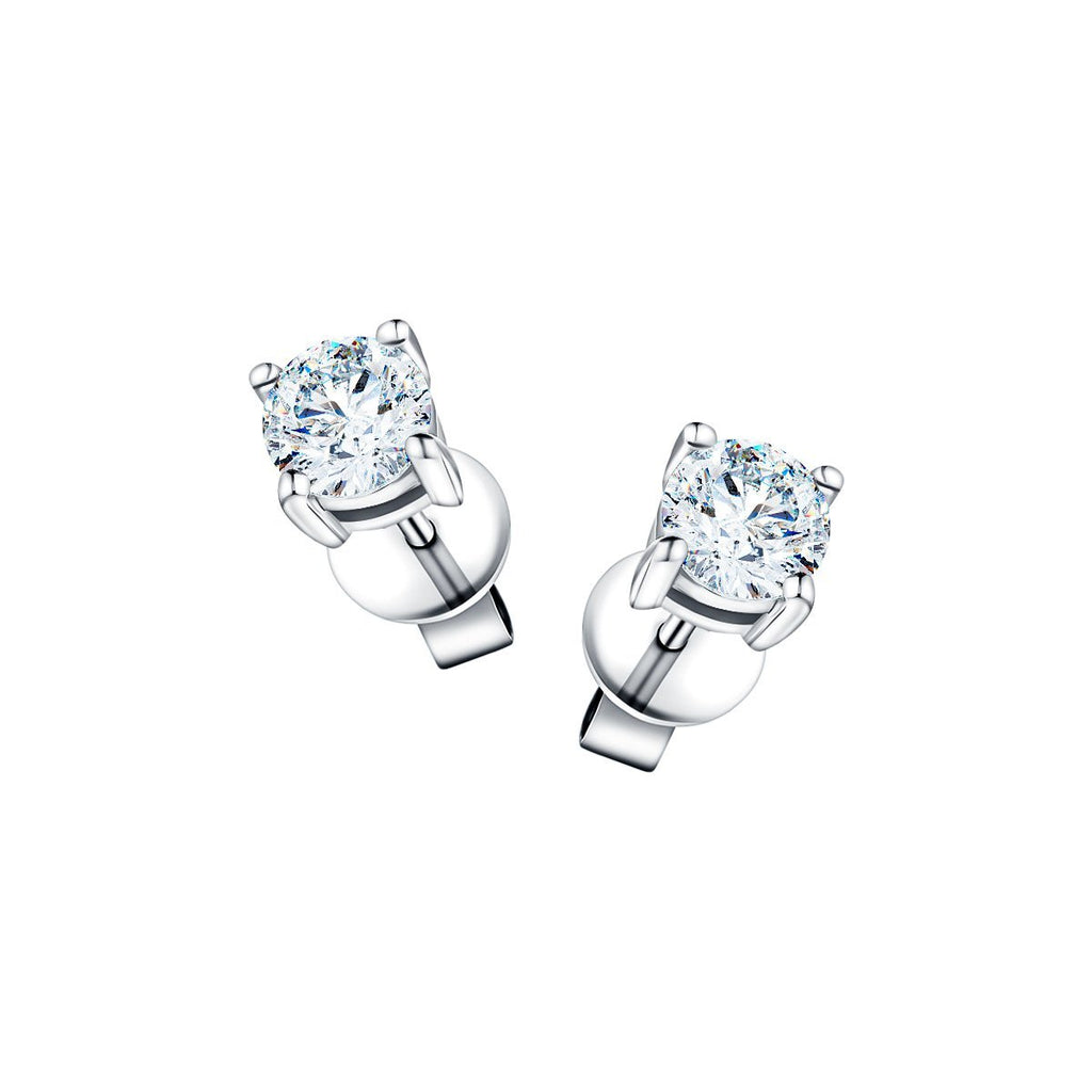 Diamond Stud Earrings 2.00ct G/SI Quality in 18k White Gold - All Diamond