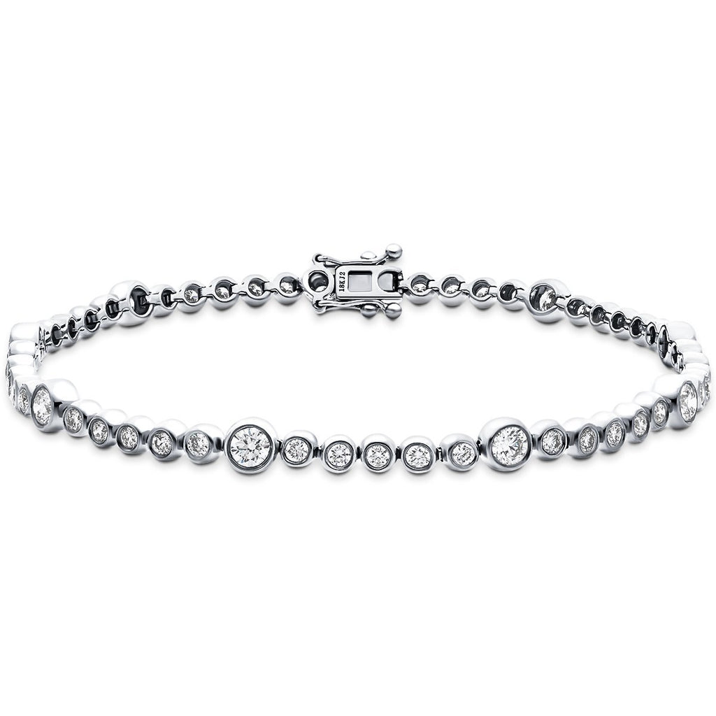 Diamond Tennis Bracelet 1.50ct G-SI in 18k White Gold - All Diamond