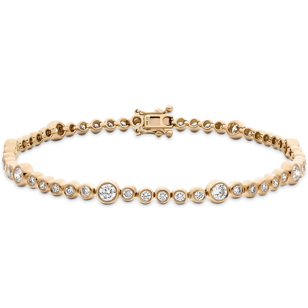 Diamond Tennis Bracelet 1.50ct G-SI in 9k Rose Gold - All Diamond