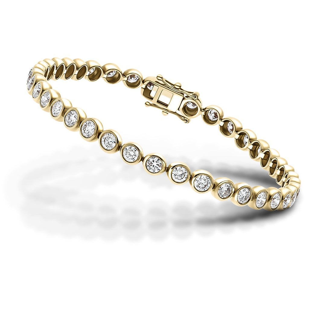 Diamond Tennis Bracelet 2.00ct G-SI in 9k Yellow Gold - All Diamond