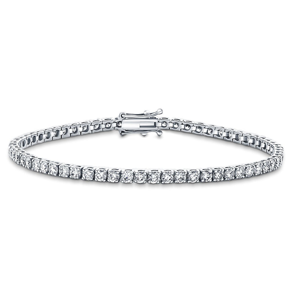 Diamond Tennis Bracelet 4.00ct G-SI in 18k White Gold - All Diamond