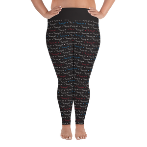 ⚾ The P.MacMilly Signature Collection Leggings - Black (Plus Size)