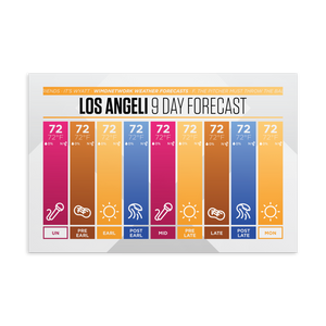🌮 Los Angeli 9 Day Forecast Postcard