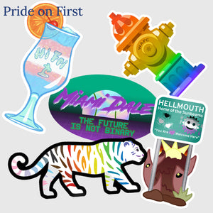 🌈 LGBT+ History Month Stickers (Packs of 5)