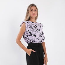 Load image into Gallery viewer, Lilac Gauche Padded Blouse