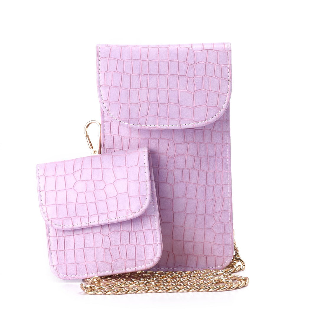 Lilac Going Croc Mobile Bag