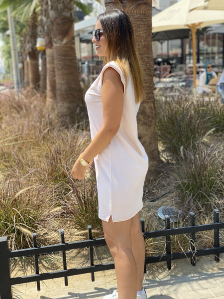 Beige Padded Dress