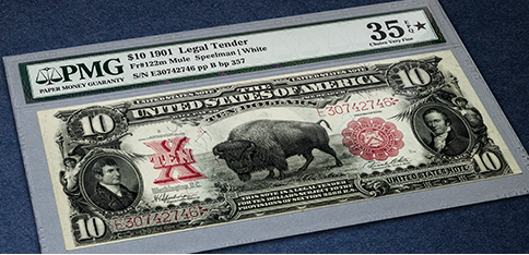 SERIES 1901 $ 10 LEGAL TENDER BISON NOTE