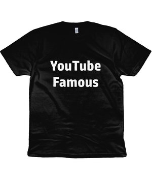 Open image in slideshow, YouTube Famous T-Shirt | black & red