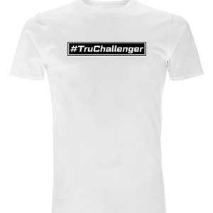 Open image in slideshow, #TruChallenger White T-Shirt