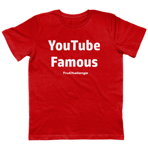 Open image in slideshow, YouTube Famous KIds Red T-Shirt