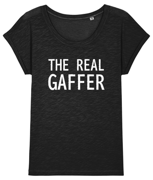 Open image in slideshow, The Real Gaffer Womens T-Shirt | black, grey, navy and pink
