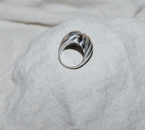 Vintage Sterling Silver Domed Sculptural Ring