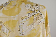 Load image into Gallery viewer, 1990's | Diane Von Furstenberg | Zodiac Print Silk Top