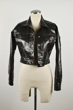 Load image into Gallery viewer, 1990's | Todd Oldham Jeans | Black Coated Demin Jacket