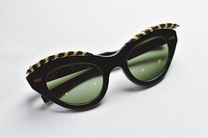 1950's | Cabana Sunglasses with a Woven Ornamental Awning