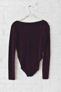 1990's | Tahari |  Burgundy Velvet Body Suit and Pant Set