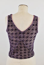 Load image into Gallery viewer, 1990's | Voyage | Burnout Velvet Sleeveless Top