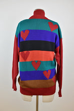Load image into Gallery viewer, 1990's | Cleopatra | Heart Knit Sweater