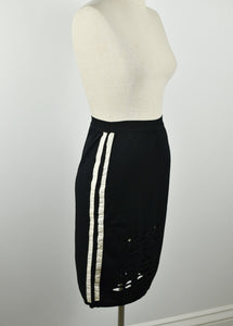 Y2K | Christian Dior | Pencil Skirt with Side Panels and Cutouts