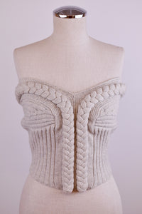 Y2K | Knit Braided Bustier Top
