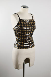 Y2K  | Sequin Houndstooth Going Out Top