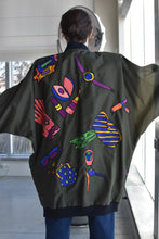 Load image into Gallery viewer, 1980's / 1990's | Silkscapes | Jacket with Silk Appliqués