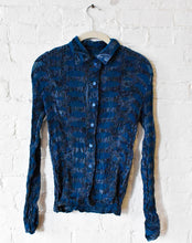 Load image into Gallery viewer, Issey Miyake | Plisse Velvet and Sheer Button Down