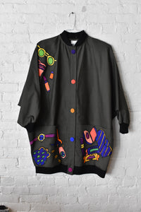 1980's / 1990's | Silkscapes | Jacket with Silk Appliqués